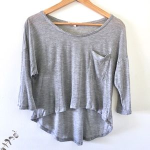 Soft Joie | Grey 3/4 Sleeve Soft T-Shirt Small